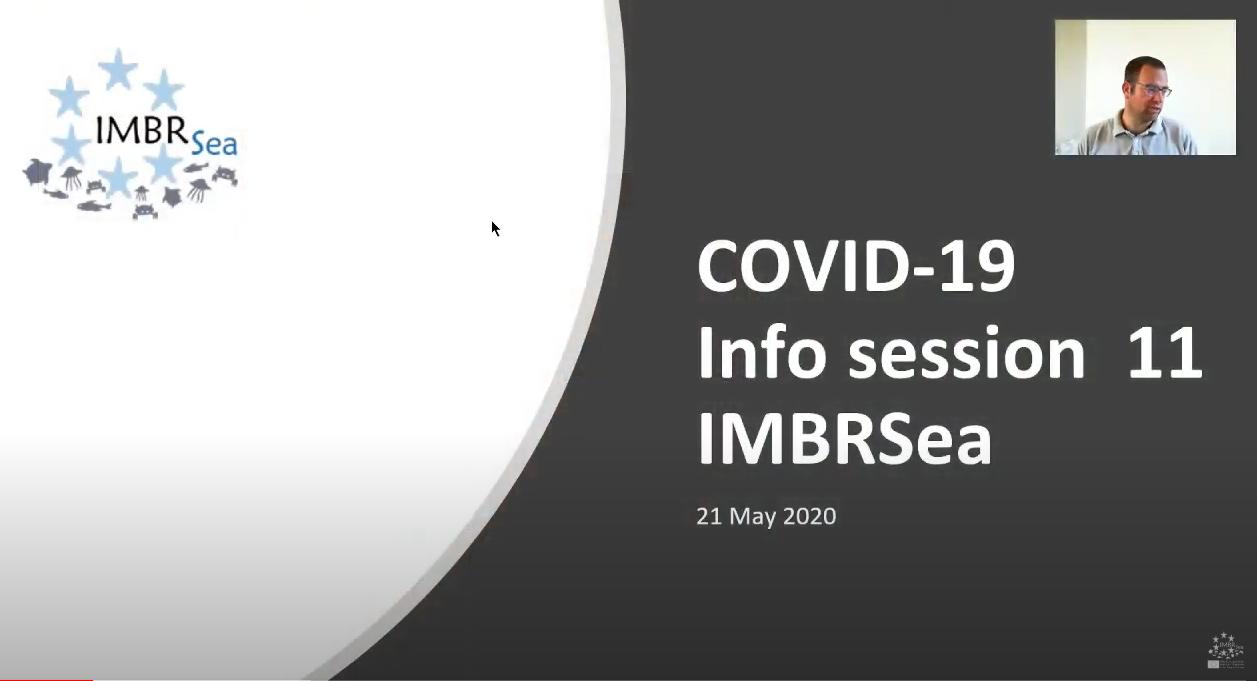 COVID-19 Infosession 11 IMBRSea